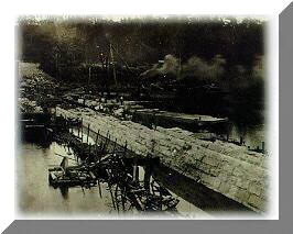 Historical Photo of Building a Lock
