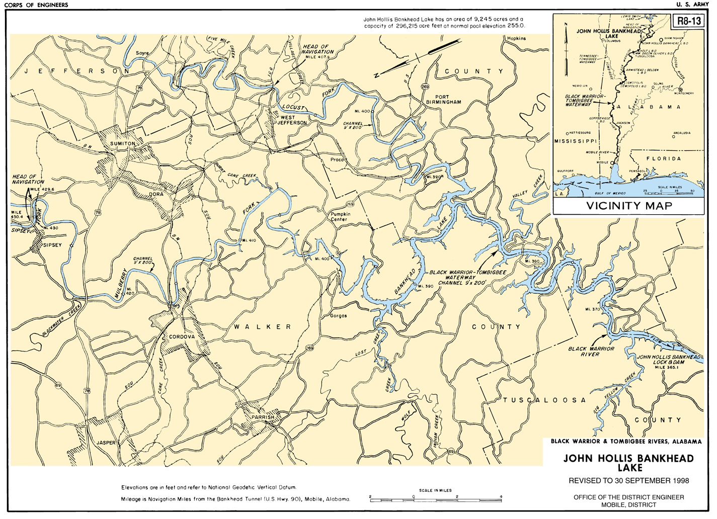 Boat Landing Map Black Warrior 48