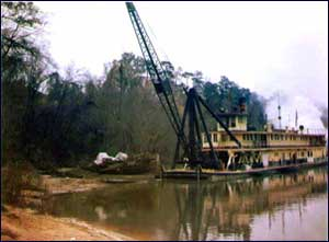 The Snagboat Assists in raising the Confederate Gunboat Chattahoochee